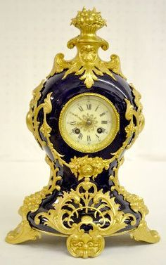 French Porcelain and Gilt Metal Clock