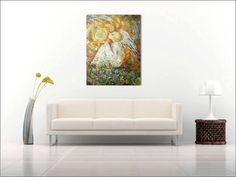 Original Art Аcrylic Abstract Heavy by ArtIconHandPaintLove ,,THE ANGEL ,,