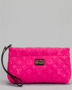 fun PINK! Louis Vuitton Monogram Scuba Pink Pochette