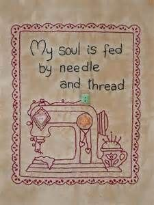 Primitive stitchery embroidery kit called My ... | for the laundry ...