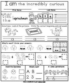 Summer Packet: Kinder-First Homework (Differentiated Common Core) Kindergarten Homework, Kindergarten Morning Work, Kindergarten Teachers, 1st Grade Worksheets, Kindergarten Worksheets, Teaching Tools, Teaching Resources, Teaching Ideas, Summer Homework