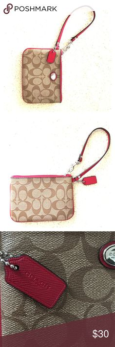 Coach Wristlet Leather, 2 pockets for cards, excellent condition, only used a few times! ❣️ Coach Bags Clutches & Wristlets