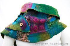 .felt scarf then cut for neck warmer