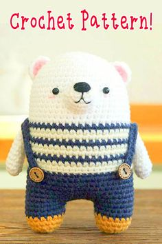 If you're looking for a cute, colorful animal amigurumi pattern that is not too difficult to crochet: look no further than Big Bebez! Crochet Bear, Cute Crochet, Crochet Animals, Crochet Crafts, Crochet Projects, Crochet Patterns Amigurumi, Crochet Dolls, Giant Knit Blanket, Handmade Soft Toys