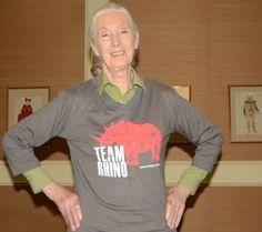 Jane Goodall is on Team Rhino! #TeamRhino #JaneGoodall #WorldRhinoDay