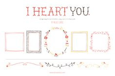 I Heart You (Clipart) by Small Made Goods on Creative Market