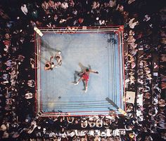 SI photographer Neil Leifer captures this aerial view of George...