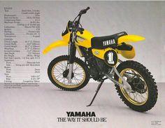 1981 yamaha yz125/ my first brand new motocross bike.