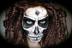 maquillage d'homme pour Halloween horrifiant