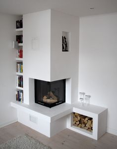 Wonderful Free of Charge Electric Fireplace with storage Ideas Good Photographs Corner Fireplace electric Suggestions Spot fireplaces give variety advantages to p Corner Gas Fireplace, Fireplace Bookshelves, Home Fireplace, Fireplace Inserts, Living Room With Fireplace, Fireplace Ideas, Tall Fireplace, Decorating Bookshelves, Living Room Modern