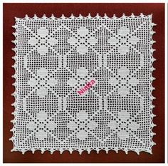 #pattern #filet #doily square s+m