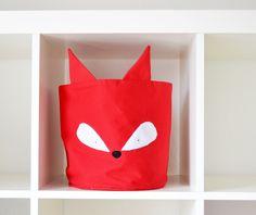 Fuchs Stoffkorb // Fox fabric basket by helen_dezemberkind via DaWanda.com