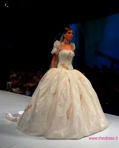 """Dare we say ballgowns are back for weddings? Italian designers I tell you...love this slideshow os beautiful gowns! """"Amelia Casablanca 2014"""""""