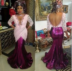Keeping Up With Aso-Ebi: Glamorous Aso-Ebi Styles & Trends.Looking Like a Million - Wedding Digest Naija African Print Dresses, African Print Fashion, Africa Fashion, African Prints, African Attire, African Wear, African Women, African Style, Nigerian Outfits