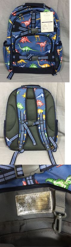 Backpacks and Bags 57882: Pottery Barn Kids Blue Dino Mackenzie Large Backpack School Bag -> BUY IT NOW ONLY: $36.99 on eBay!