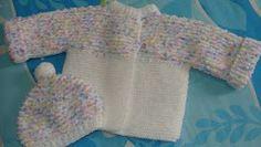 Olá. Esta semana terminei mais uma pecinha em tricô. Fácil de fazer, agasalha bem o bebê e é ótimo quando você precisa de um casaquinho com...
