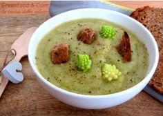 Zuppa di cavolo romanesco #ricetta #vegetariana http://blog.giallozafferano.it/greenfoodandcake/zuppa-di-romanesco/