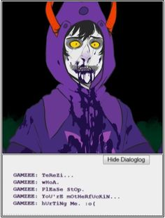 This makes me sad, I feel like if Gamzee could stop being controlled by others he would be himself again.