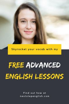 Are you a high intermediate or advanced English learner? You're missing out if you're not taking advantage of my 100% FREE weekly email lessons. Once a week, you'll receive an anecdote with a vocabulary list, a downloadable verb card, and a short vocab quiz on the previous week's words of the day. Hope to see you there! #LearningEnglish #Englanti #Anglais #ESL #الإنجليزية #Vocabulary #英語 #AdvancedEnglish #Αγγλικά #영어 #English #Inglese #LearnEnglish #Inglés #английский #Englisch #engelsk… Study English Online, English Lessons Online, Learn English For Free, English Study, English Class, Advanced English Vocabulary, English Vocabulary Words, Grammar And Vocabulary, Vocabulary List