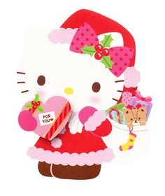 Holiday Cards, Christmas Cards, Xmas, Hello Kitty Images, Sanrio Hello Kitty, Whimsical, Shabby, Kitty Kitty, Winter