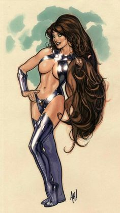 Starfire art by the amazing Adam Hughes