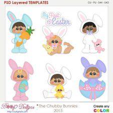 Chubbie Bunnies Layered Element Templates cudigitals.com clipart template cu commercial scrap scrapbook digital graphics #cu #scrapbooking #photoshop #digiscrap