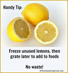 Left Over Lemons - Freezing and Grating is the Trick -