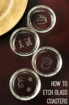 Do you know how to etch glass? It's easier than you think! Learn how to do it with this simple tutorial - and make cute coasters at the same time.