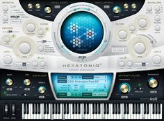Hexatoniq 3 VST plugin UI Design by Alexey Kolpikov, via Behance