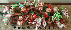Christmas Centerpiece-Table Centerpiece-Christmas Decor-Elf Centerpiece-Elf decor-Deco Mesh Centerpiece- by BamaBelleWreaths on Etsy Elf Centerpieces, Christmas Centerpieces, Christmas Decorations, Christmas Arrangements, Deco Mesh Wreaths, Holiday Wreaths, Handmade Gifts, Etsy, Home Decor