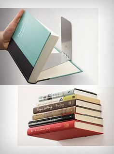 non-shelf shelf!  Totally want to do this in my house!!! :-D