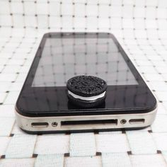 Black Chocolate Oreo Cake Cookie Biscuit Candy DIY Home Button Sticker for iPhone 3,4,4s,5,ipad 2,3,4,iPod Touch 2,3,4,5 on Etsy, $2.99
