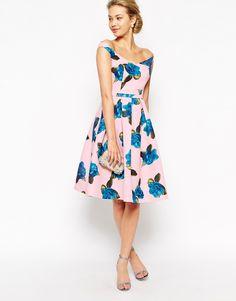 Chi Chi London Off Shoulder Full Prom Midi Dress In All Over Floral Print summer dress Formal Dresses For Weddings, Wedding Dresses Plus Size, Dresses For Teens, Trendy Dresses, Plus Size Dresses, Nice Dresses, Modest Bridesmaid Dresses, Prom Dresses, Dress Prom