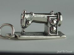 Sewing Machine Charm Sterling Silver for Sewer by jewelbecharmed, $16.95