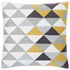 Buy west elm Optical Triangle Crewel Cushion Online at johnlewis.com