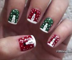 Snowmen nail art⛄⛄