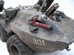 Grosstraktor by Mark`Stevens Mark Stevens, Metal Gear, Retro Futurism, War Machine, Dieselpunk, Concept Cars, Scale Models, Military Vehicles, Horns
