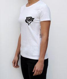 THE ROSE LINE logo t-shirt white color women