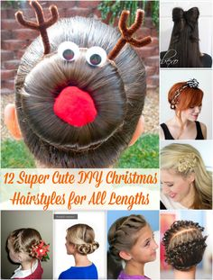 12 Super Cute DIY Christmas Hairstyles for All Lengths