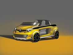 "This summer, ""L'Optimum"" men's magazine gave free rein to to imagine its food car. So, it's time to discover Renault Twing'Hot in exclusivity ! Car Design Sketch, Car Sketch, Mini Trucks, Male Magazine, Car In The World, Transportation Design, Car Ins, Concept Cars, Cars And Motorcycles"