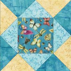 French Blue Butterfly Quilt Blocks Kit.  This kit makes 12 quilt blocks and they are pre-cut.