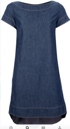 a denim dress - perfect canvas for creating literally ANY type of outfit Linen Dresses, Cute Dresses, Casual Dresses, Short Dresses, Casual Outfits, Fashion Dresses, Summer Dresses, Denim Dresses, Maxi Dresses