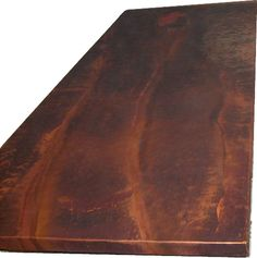 Hand hammered copper countertop, patina (Liver of Sulfur).