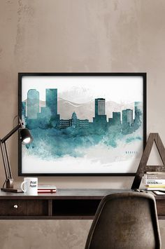 Hey, I found this really awesome Etsy listing at https://www.etsy.com/listing/253700647/denver-skyline-denver-print-denver