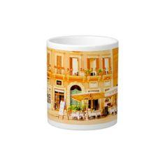 Roman Cafe ~ Jumbo 20 oz. Mug, featuring Piazza Navona.  See more fun and fresh gift ideas at www.zazzle.com/wheresqtraveldreams*