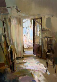 Interior #105 || Carlos San Millán, Oil on board, 45 x 65 cm.