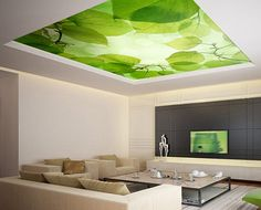 """Ceiling STICKER MURAL leaves trees spring forest airly air decole poster 93x93""""(236x236cm) on Etsy, $149.99"""