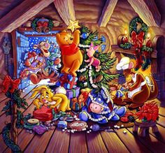 Winnie the Pooh  and Gang - Christmas