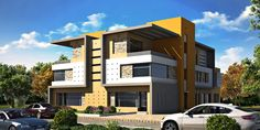 Modern Twin House Model available on Turbo Squid, the world's leading provider of digital models for visualization, films, television, and games. House 3d Model, Twin, Multi Story Building, Mansions, House Styles, Modern, Home Decor, Trendy Tree, Decoration Home