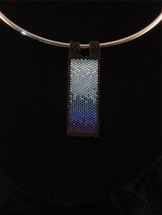 Water Element Beaded Pendant by Ivydee on Etsy